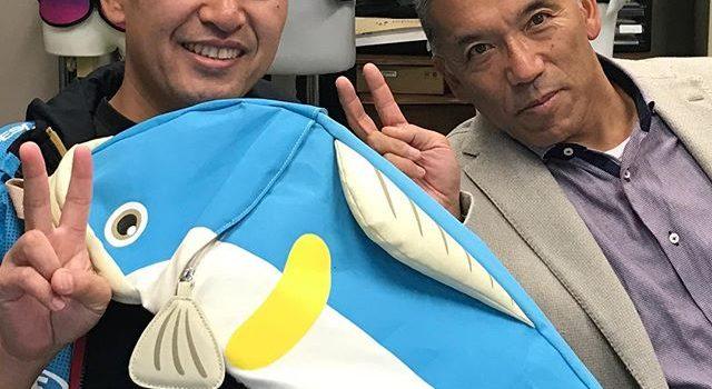 本日はソフトピアジャパンより茂木氏に来て頂いて「おさかなカバン」について色々とアドバイスを頂きました(^_^)v