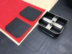 油圧裁断機(クリッカー) 型抜き裁断機 抜き型(スウェーデン鋼刃型)不織布・パンチカーペット素材・スエード・レザー・ビニール・塩化ビニール・